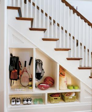 under-stair-storage-solution-staircase-hallway-shoes-coat-closet-basement-media-den-room-garage-idea-interesting-set-shelf-basement-idea-inspiration-organising-creating-space-management-creative-diy